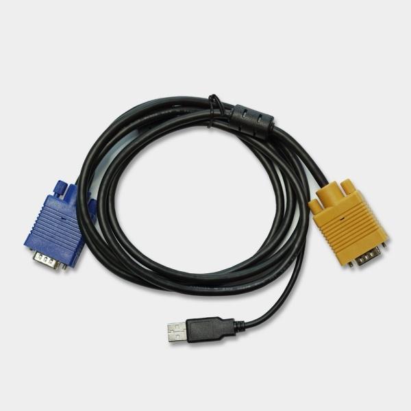엘이디씨 KVM USB 통합 케이블 3M [CV-5203U]