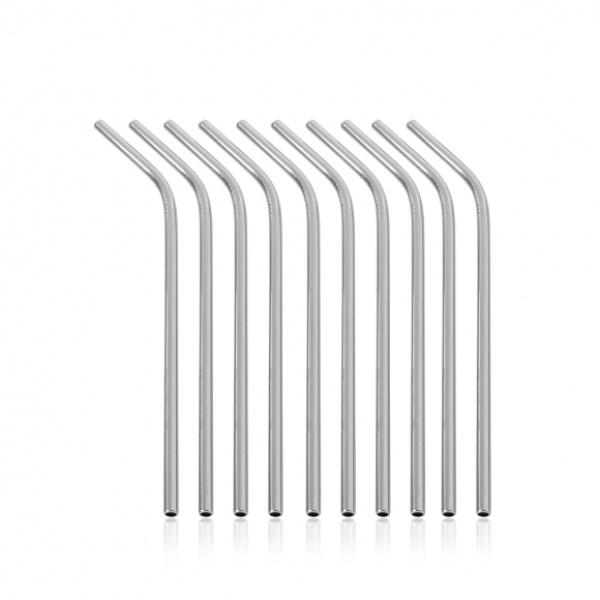 스테인리스 커브 빨대 10p 세트 GTS31293 (26x0.5cm)
