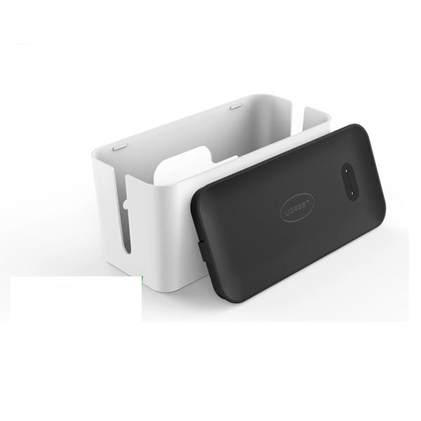 유그린 케이블 정리함 [화이트/중][U-30397]