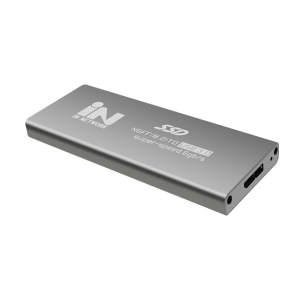 M.2 SATA(NGFF) to USB 3.0 외장하드 알루미늄 케이스 [IN-SSDM2S] [실버]