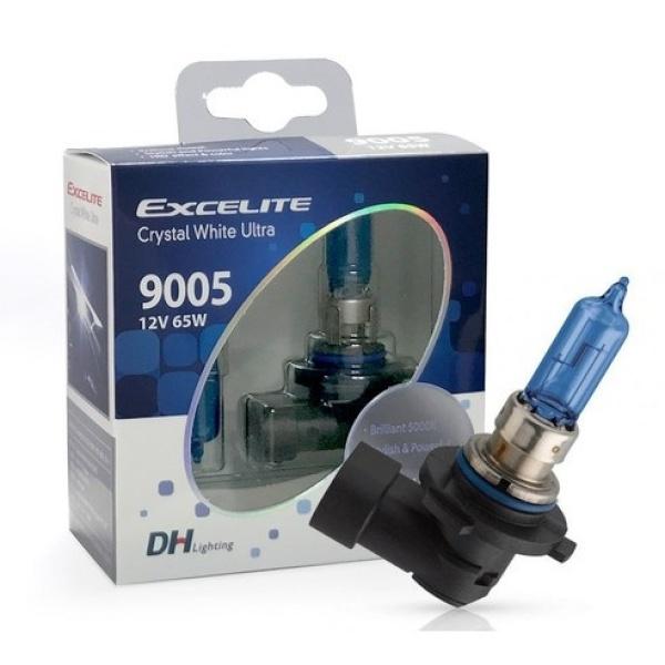 엑셀라이트 크리스탈 화이트 울트라 HB3(9005) 차량용 램프 (1SET) [전조등/라이트/할로겐전구]