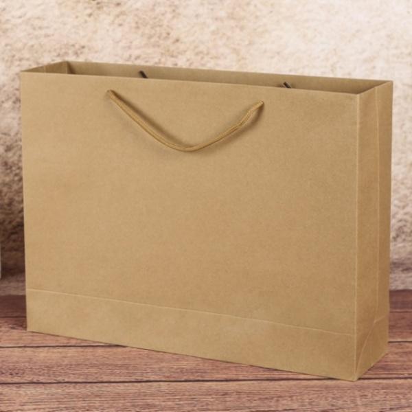 무지 가로형 쇼핑백(브라운)[GTS30574]