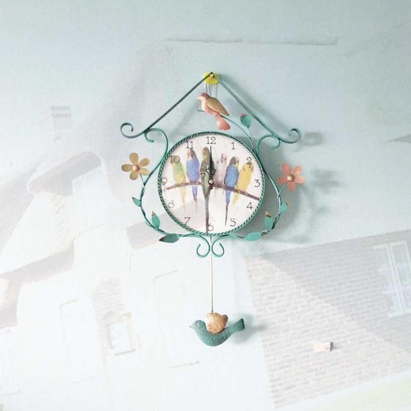플라워추 그린 국산 황동 핸드메이드 인테리어 벽시계