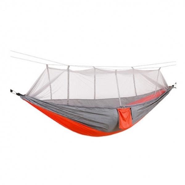 [GTF29523] 후니 캠핑용 모기장 해먹(그레이+오렌지) (260x140cm)