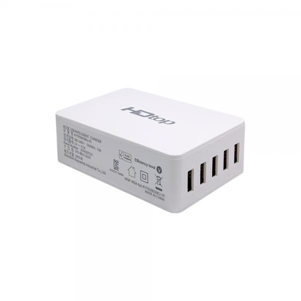 HDTOP USB 5포트 DC 5V 6.5A 아답터 멀티 충전기 HT-5V65