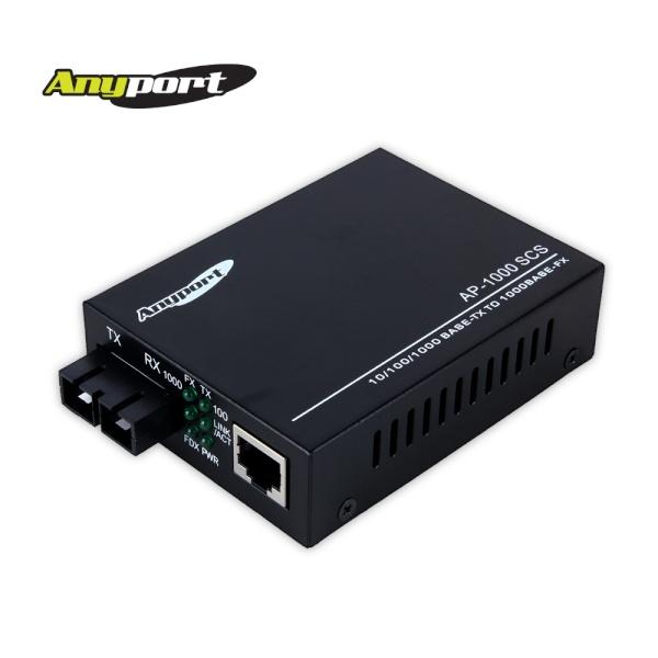 Anyport AP-1000SCS 광컨버터 [1000Mbps/싱글/SC타입]