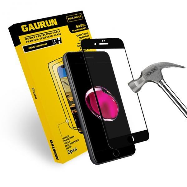아이폰8/7 풀커버 3D 강화유리 액정보호필름(블랙)2매