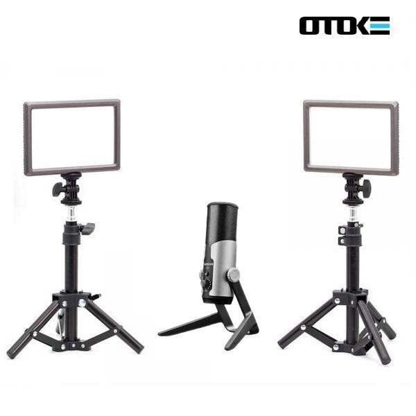 오토케 PC 개인방송장비 세트 D [룩스패드22H*2 (전용어댑터*2)포함 / AC038 스탠드*2 / GX6 마이크]