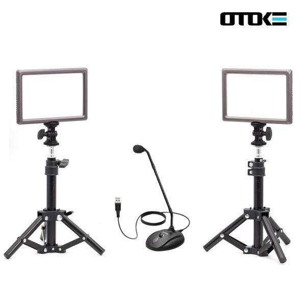 오토케 PC 개인방송장비 세트 F [룩스패드22H*2 / AC038 스탠드*2 / K052 마이크]