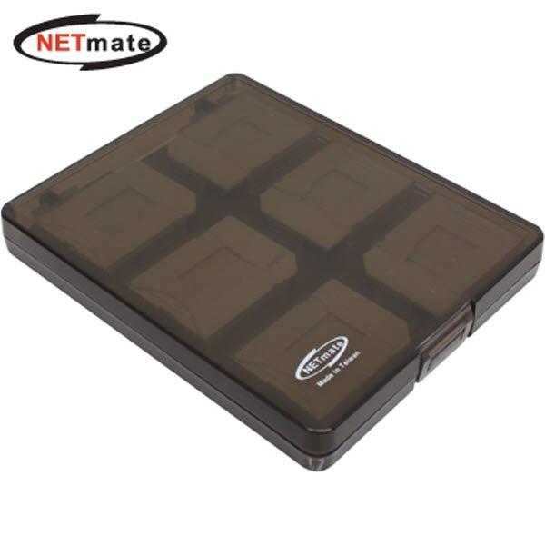 수납케이스, NETmate NMA-LM40 MicroSD+SD [12매/블랙]