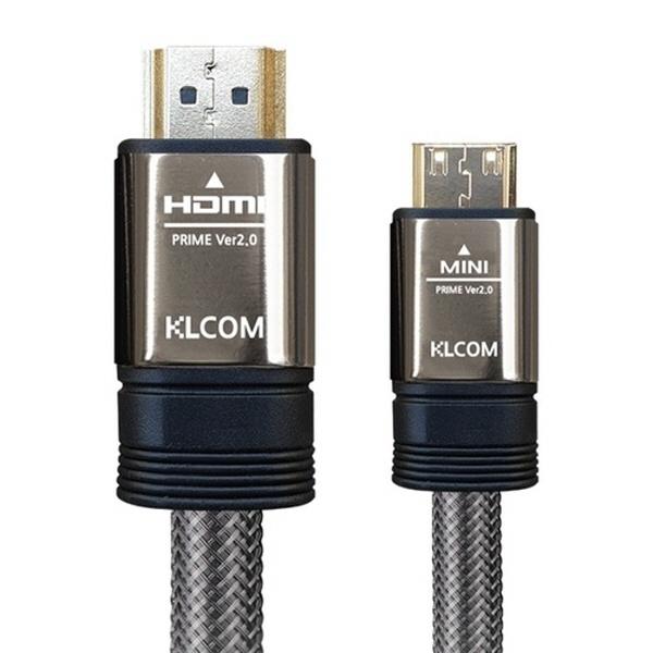 KLCOM Mini HDMI to HDMI [Ver2.0] 고급형 케이블 1.5M [KL21]