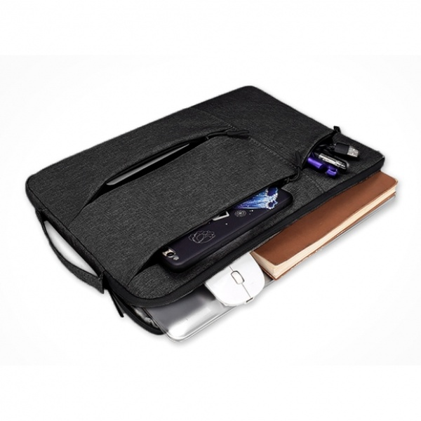 [GTS33015] 손잡이 노트북 파우치(블랙) (39x27cm)