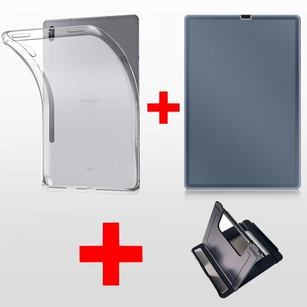 갤럭시탭 S6 강화유리 젤케이스 태블릿거치대 세트 CZ
