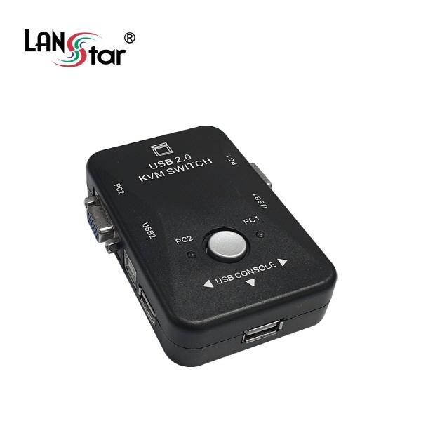 랜스타 LS-RG2KVM (KVM스위치/2:1/3포트/RGB)