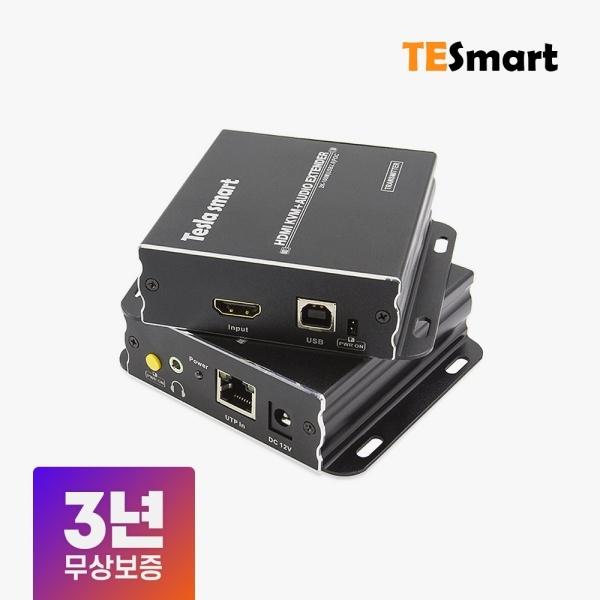 티이스마트 HDMI KVM 리피터 송수신기 세트, HKE1011A7H [최대100M/RJ-45]