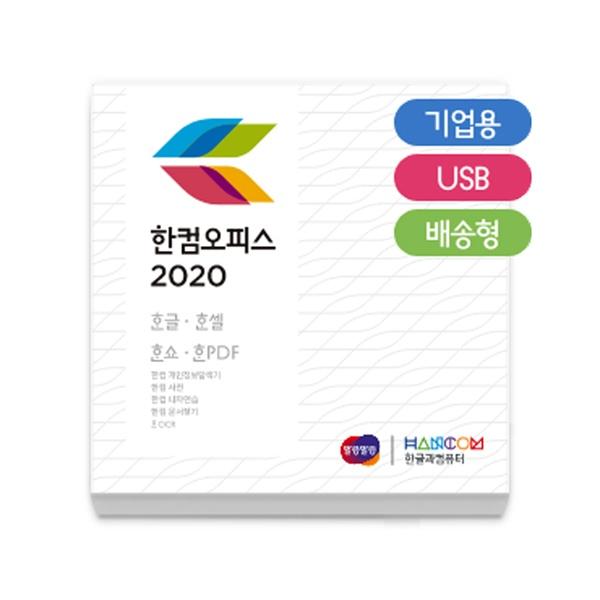 한컴오피스 2020 [기업용/처음사용자용/패키지(한글,한셀,한쇼 포함)/USB방식]