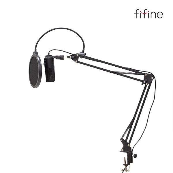 오토케 고성능 USB PC 콘덴서 마이크 관절 스탠드 팝필터 풀세트