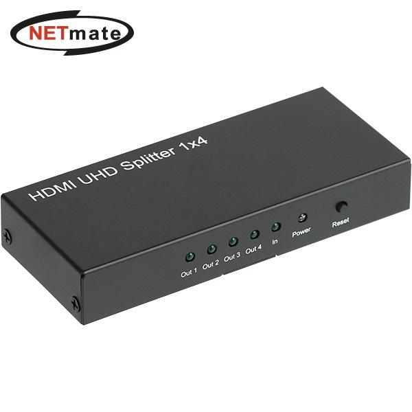 NETmate NM-HSA14N [모니터 분배기/1:4/HDMI/오디오지원]