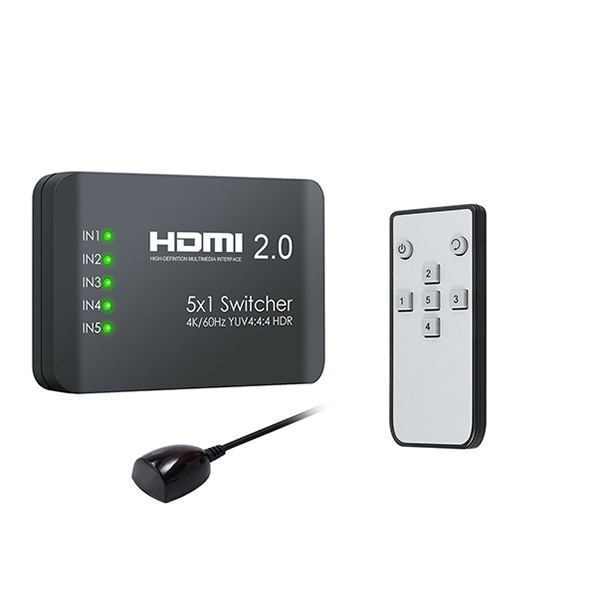 유커머스 UC-CP92 [모니터 선택기/5:1/HDMI/오디오미지원] 리모컨포함
