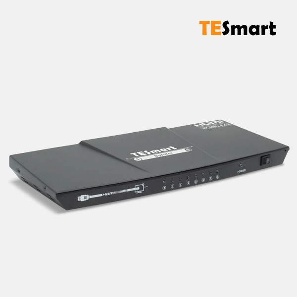 티이스마트 HSP0108A1U [모니터 분배기/1:8/HDMI/4K 60Hz/오디오 지원]