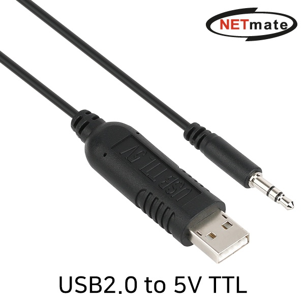 NETmate USB2.0 to TTL(Audio plug) 컨버터 [5V/1.8M] [KW-998]