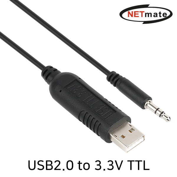 NETmate USB2.0 to TTL(Audio plug) 컨버터 [3.3V/1.8M] [KW-996]