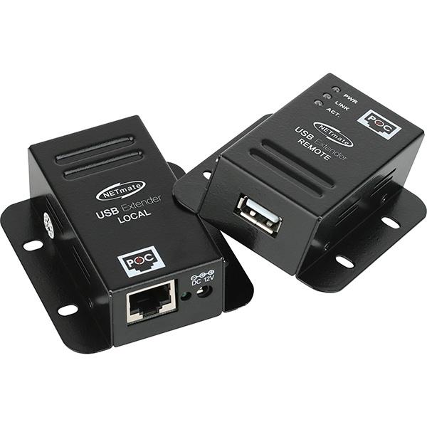 NETmate USB2.0 리피터 송수신기 세트,  KW-411C [최대50m/RJ-45]