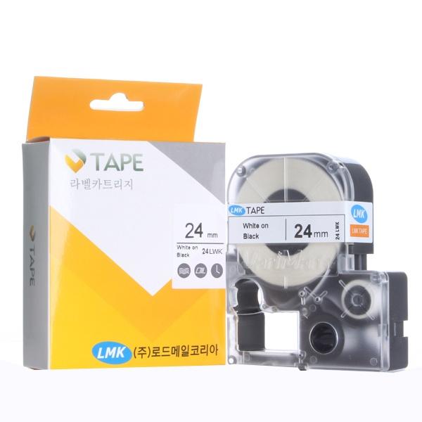 24LWK 초저온 라벨테이프 바탕(흰색) / 글씨(검정) 24mm