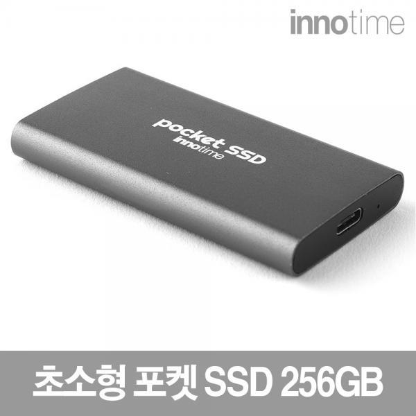외장SSD, Innotime POCKET SSD [USB 3.2 Type-C Gen2] [그레이블랙/256GB]