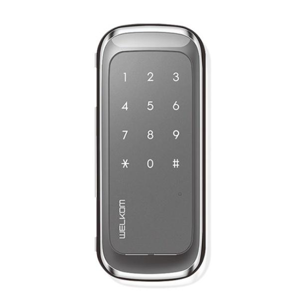 [자가설치]웰콤 WGT130 단문형 유리문 번호전용 디지털도어락 도어록 번호키