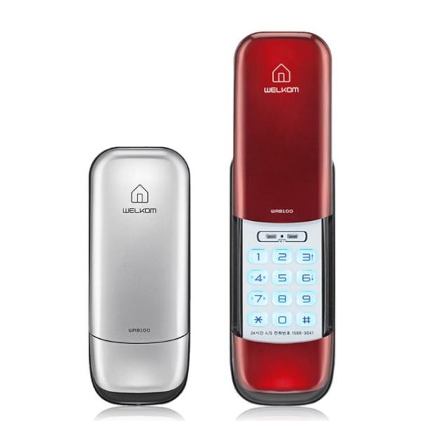 [자가설치]웰콤 WRB100 번호전용도어락 디지털도어락 도어록 번호키