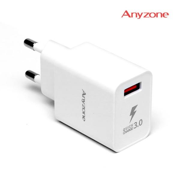 USB 1포트 고속충전기 (12V/3A) C타입케이블 포함 [AZQ-CG11]