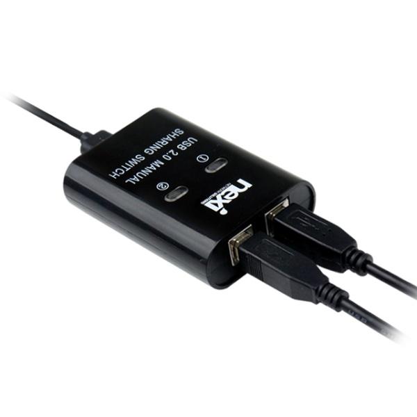 넥시 2:1 USB 2.0스위치 [NX-U221S] [NX915]