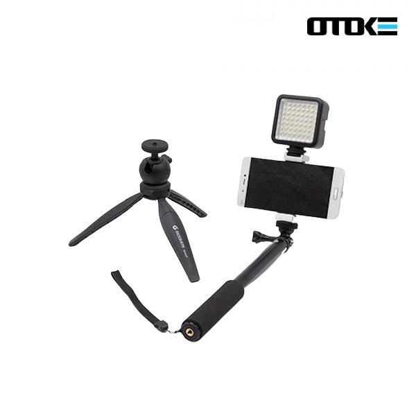 오토케 스트릿BJ-6 패키지 야외방송 풀세트 미니 라이트 + 모노포드 + 삼각대
