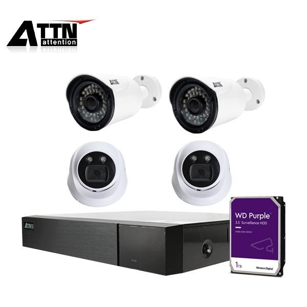 [오피네트웍스] 210만화소 CCTV 혼합패키지,  ATTN-DTF*1대 /  XDW*2대 +XB*2대 [210만화소] [1TB 하드 포함]