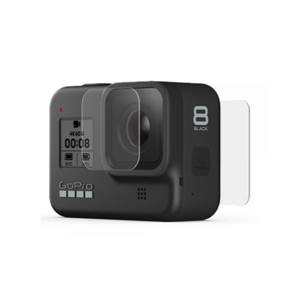히어로8 곡면형 유리 렌즈 + 액정보호필름 [고프로정품]