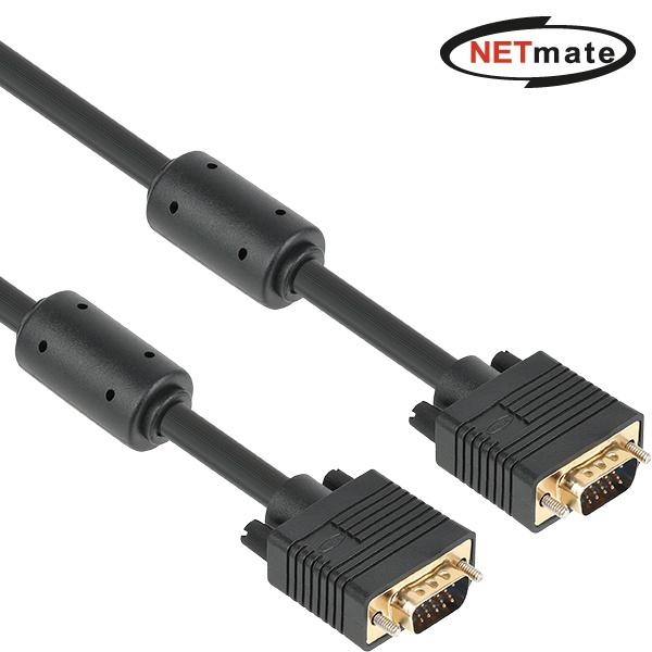 NETMate RGB 3+9 모니터 꺾임 케이블 [3M/블랙] [NM-PR03B]