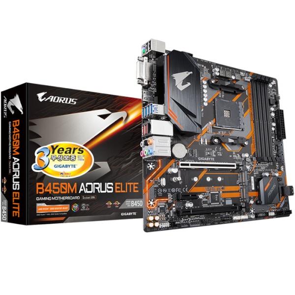 B450M AORUS ELITE 피씨디렉트 (AMD B450/M-ATX)
