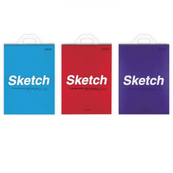 전문가용 스케치북 4절(색상랜덤)