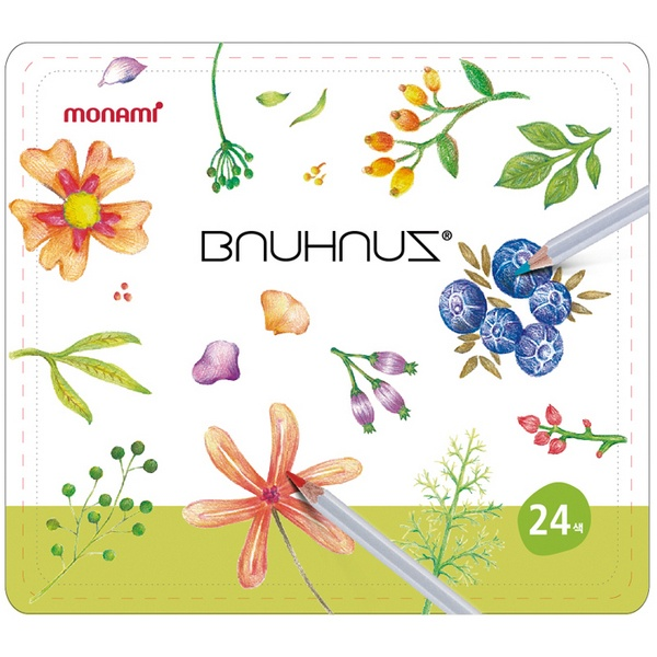 바우하우스 색연필 24색