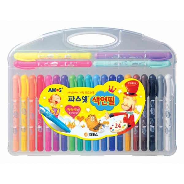 24색 파스넷 색연필 15000
