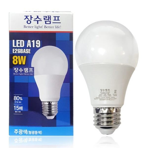 컬러원 LED램프 A19 [8W] [주광색]