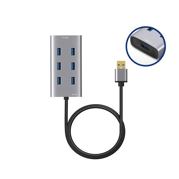 유커머스 UC-CP100 [USB 3.0허브/7포트/유전원] [보조전원 케이블 포함]