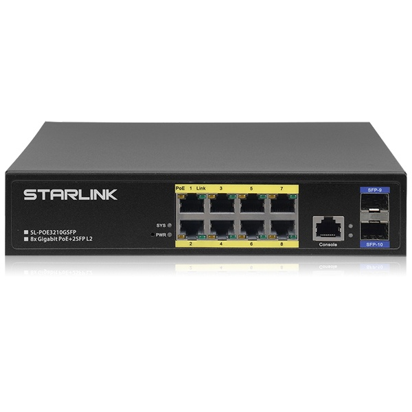 STARLINK SL-POE3210GSFP [스위칭허브/8포트/PoE/L2]