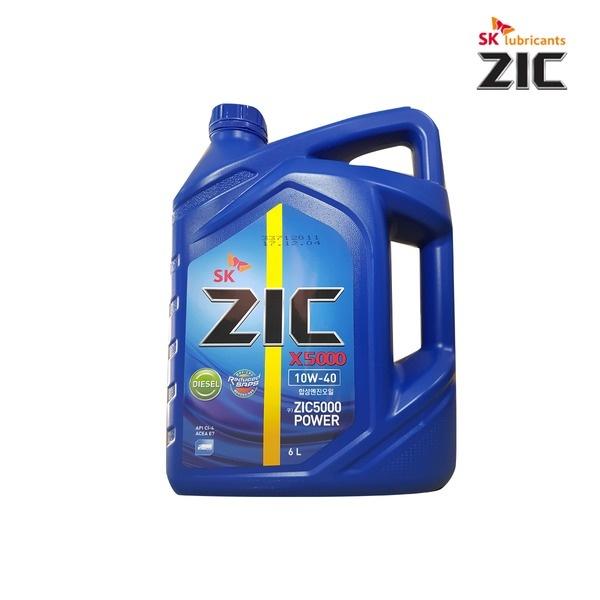 지크 ZIC X5000 [엔진오일/중장비용/디젤(경유)/10W40/6L]