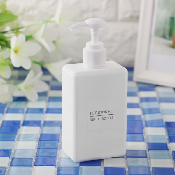 [GTS34227] 욕실 디스펜서 사각 리필용기(100ml) (화이트)