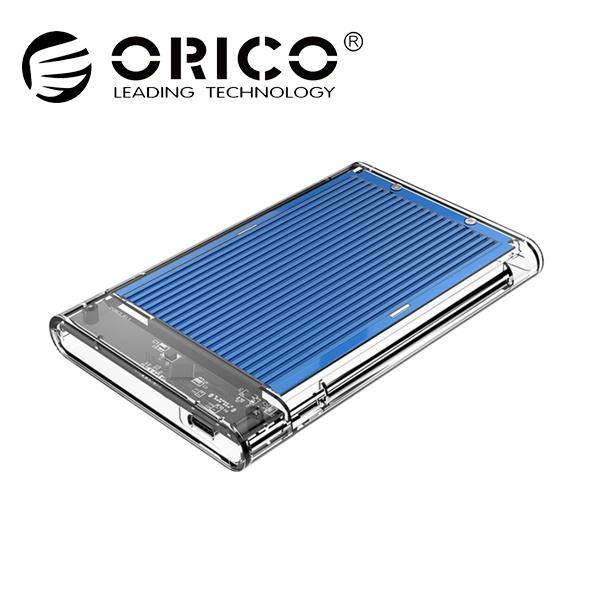 오리코 2179C3 투명+알루미늄방열판 [2.5 외장케이스/Type-C] [블루]