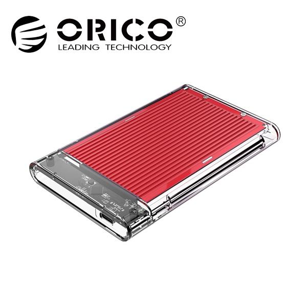 오리코 2179C3 투명+알루미늄방열판 [2.5 외장케이스/Type-C] [레드]