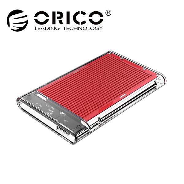 오리코 2179U3 투명+알루미늄방열판 [2.5 외장케이스/USB3.0] [레드]