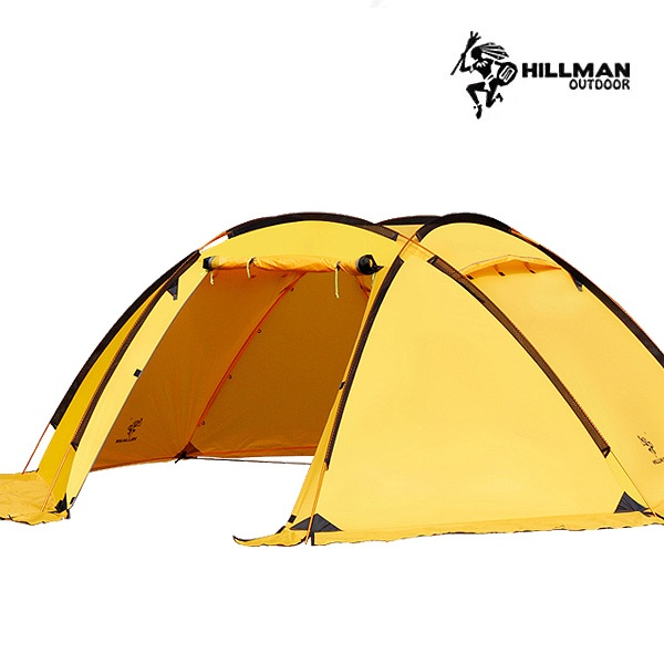 힐맨 벙커돔 쉘터 텐트 - 8인용 쉘터와 4인용 텐트 사용가능